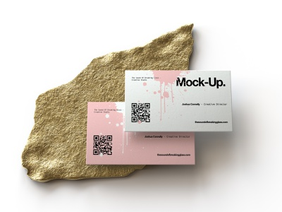 Business Card Mock-Up business card display cbd honey glass identity nutrients wellbeing medical cannabis presentation packaging branding