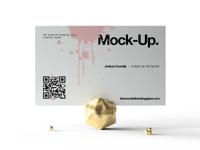 Business Card Mock-Up business card display business card mock-up cbd honey face cream glass identity wellbeing medical cannabis presentation packaging branding