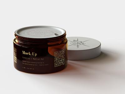 Cosmetics   Medical Pot Mock Up - Vol.1 bottle medical amber glass design identity mockup presentation mock-up packaging