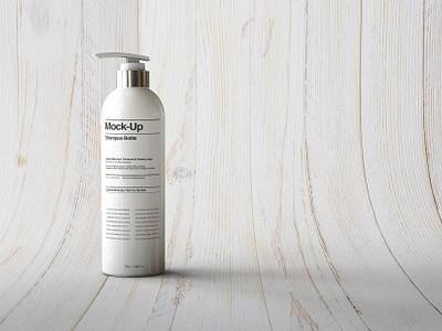 FREE Pump Bottle Mock-Up! free premium salon shampoo cream bottle pump beauty cosmetics mockup packaging mock-up product presentation