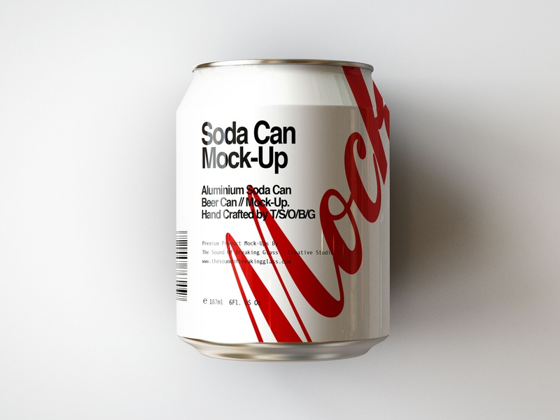 mini soda can beer can mock up by joshua connelly dribbble
