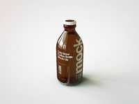 Cold brew coffee bottle mock up 2 cl f