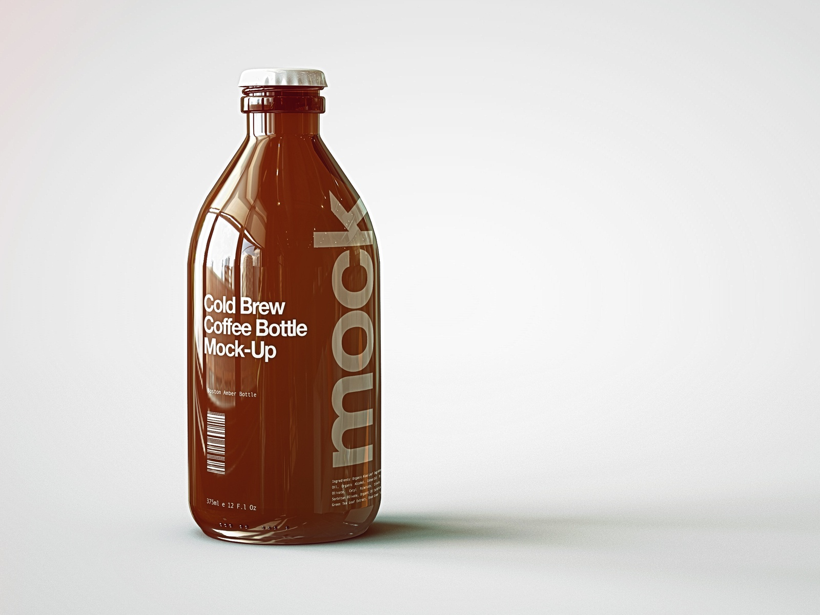 Cold Brew Coffee Bottle Mock-Up by Joshua Connelly on Dribbble