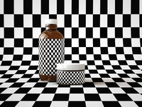 Cosmetic pot and bottle mock up by tsobg grid