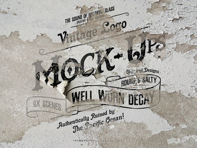 Rustic & Vintage Logo Mock Up Pack