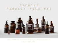 Premium product mock ups by the sound of breaking glass
