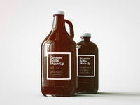 Growler squealer bottle mock up 4 f