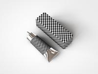 Aluminium plastic cosmetics tube mock up v5 mesh res