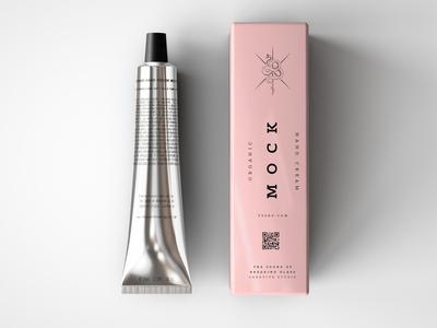 Laminated Plastic Cosmetics Tube & Box Mock Up