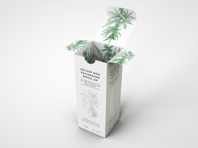 Deluxe Paper Box Packaging Mock Up packaging mockup packaging oils mockup template mockups mockup psd mockup design mock-up mock up medical marijuana hemp oil hemp dropper cbd cannabis packaging cannabis branding and identity branding box beauty product