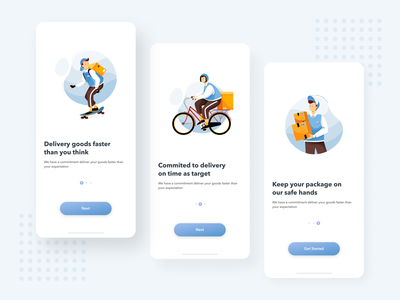 #Explore - Delivery App business vector illustration design uidesign ux ui box delivery service delivery app delivery