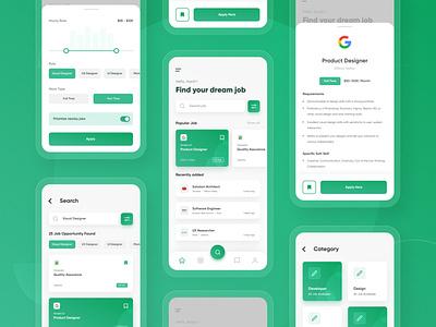 #Exploration - Job Finder App appdesign mobilapp jobfinder ux ui
