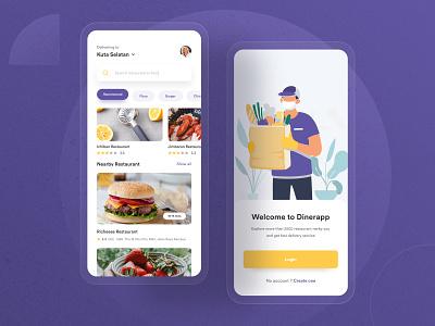 Food Delivery App - Exploration fooddelivery food ux ui uidesign