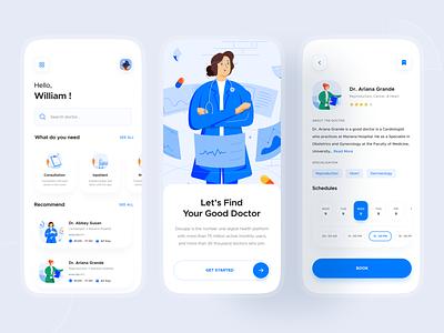 Doctor App - Exploration 💊 healtcare health illustration doctor app mobile ui ui health clean medicine doctor