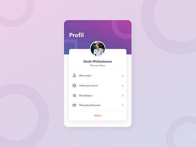 #Exploration - User Profile setting profile user profile user