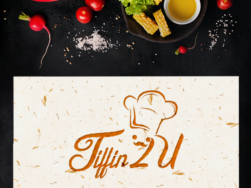 Tiffin2u Logo Design logo food restaurant tiffin