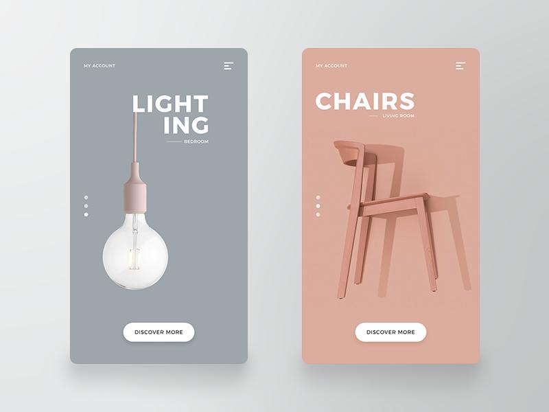Product App Design product app furniture app design ux ui app design
