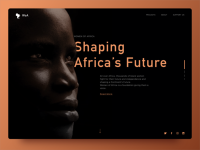 Women of Africa  - ONG Landing Page