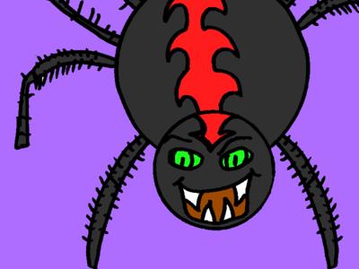 Spider Mug Outline