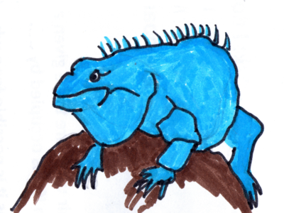 Big Blue Lizard