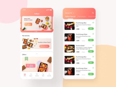 Fruit Box subscription UI Screens