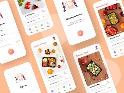 Food Discovery App UI ingeniouspixel food ordering app food app adobe xd ux ui user interface