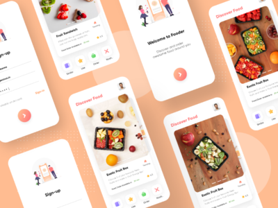 Food Discovery App UI ingeniouspixel food ordering app food app adobe xd ux ui user interface