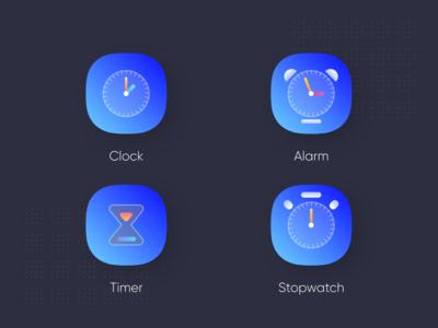 Clock app icons 2nd
