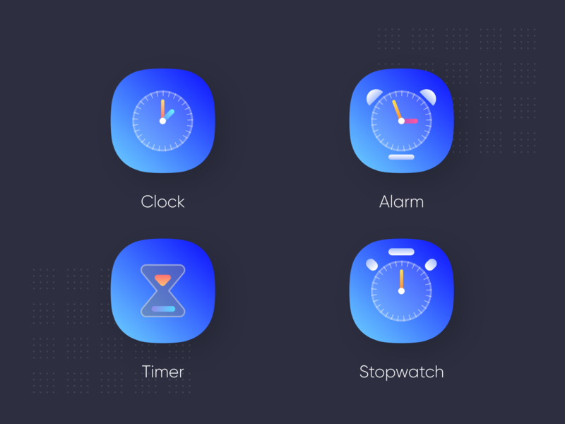 Clock app icons 2nd icon alarm icon alarm app alarm clock stopwatch clock app clock timers iconography clock icon icons pack ingeniouspixel icons design iconset icons