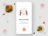 Food discovery app interaction