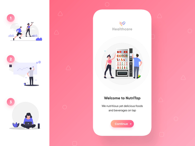 Healthcare product onboard user flow