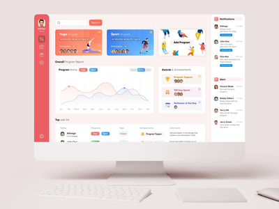 Program and task management dashboard Interaction ui components dashboard components mirco interaction flat  design minimal dashboard design dashboard ui dashboad task management task illustration interaction ingeniouspixel adobe xd interaction design ux ui