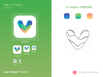 App icon practice 1 logo design logotype logos app logo design app ingeniouspixel ux ui app interface app illustration app icons app logo app icon