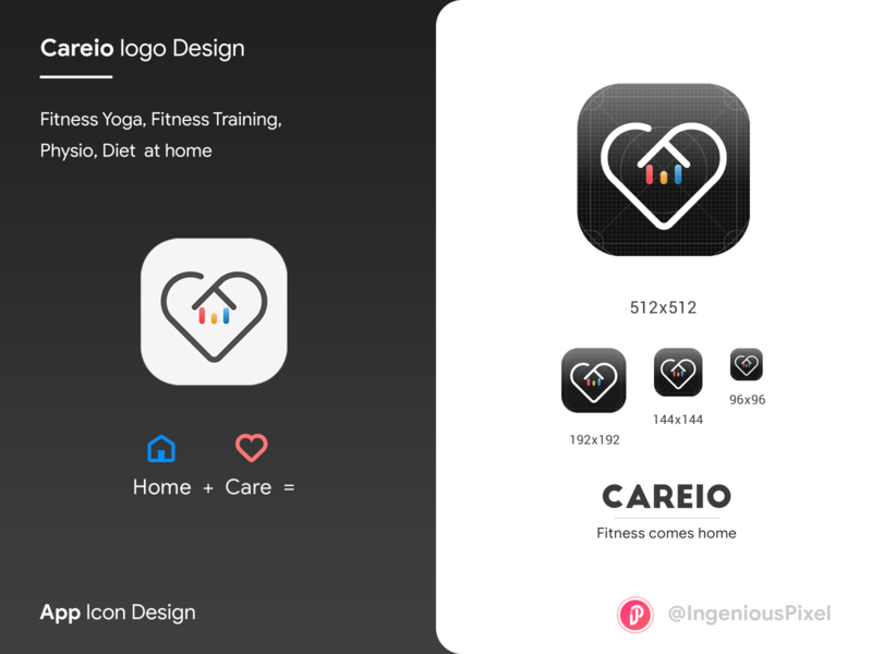 App icon 2 typography ingeniouspixel illustration branding ui ux interaction design logo design logo app logo app icon design app icon