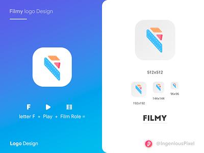App icon 4 playoff player play icon design app logo app icon icon app logodesign logo icon movie movie app film illustration branding interaction ingeniouspixel interaction design