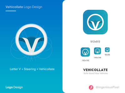 Vehicollate logo Design travel agency cab car logo app icon app logo traveling vehicle icon vector vehicle app vehicle travel app travel app interaction design ingeniouspixel ux ui