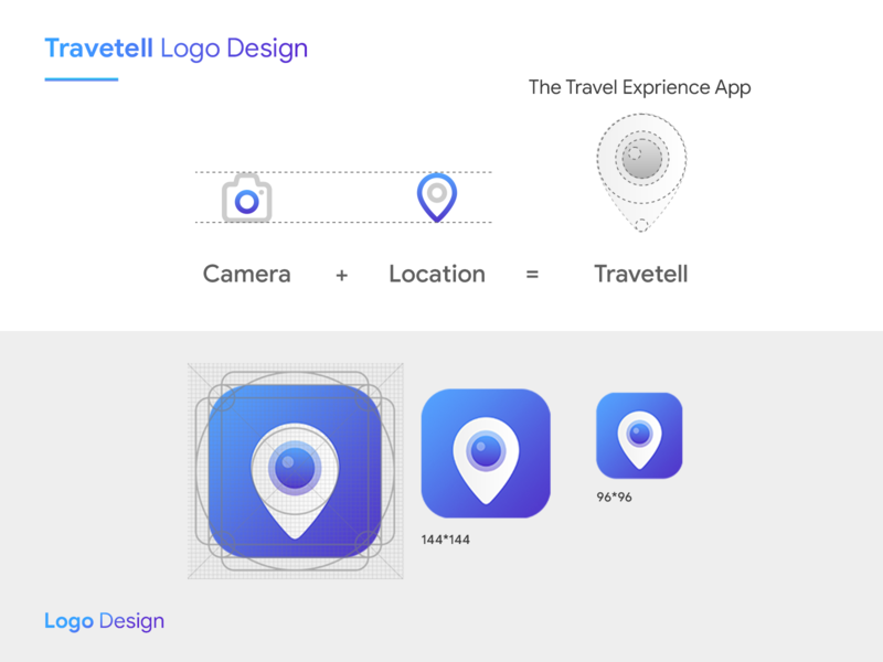Travetell logo design location app location travel icon typography app logo logo illustration branding app interaction ingeniouspixel