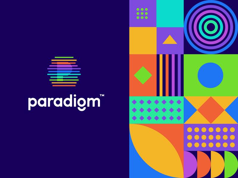 Paradigm Logo & Pattern typography pattern design monogram p logo logomark identity geometric patterns logotype logodesign branding pattern logo