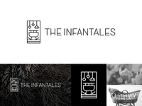 The Infantales Logo kid tales cradle photographer baby infant camera photography symbol logotype minimal monogram mark logomark typography branding identity logo