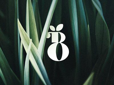 B Monogram leaves leaf letter b b logo design nature symbol minimal monogram logomark mark branding identity logo