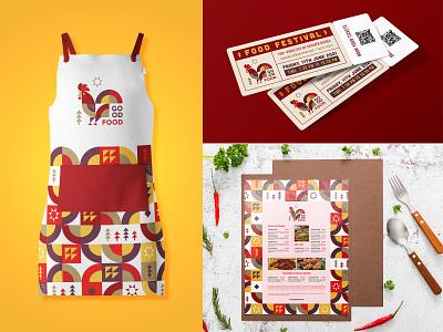Good Food Brand Applications geometry geometrical colorful brand identity abstract bird logo rooster food menu chef restaurant logo food brand pattern pattern minimal illustration logomark mark branding identity logo