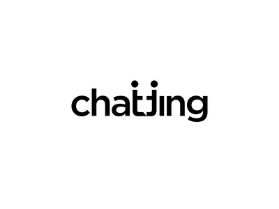 Chatting Logo symbol mark identity negative space typography clever logo meeting chatting bubble chatting word mark logo