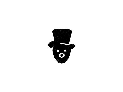 Magic Bear Logo negative space hat logo minimal animal logo magic bear symbol mark logo
