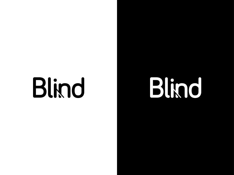 Blind Wordmark identity mark human typography clever logo wordmark blind