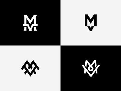 MV Monogram Explorations letters mv mv logo mark logo mv monogram monogram