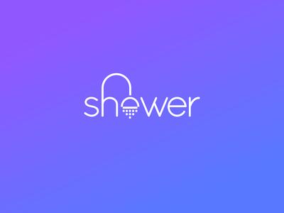 Shower Typography Logo