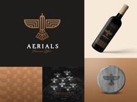 Aerials Premium Wine Logo / Hobby Project