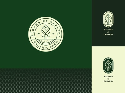 Blooms Of Cauvery Logo leaf grow tree plant agriculture farming farm organic green bloom nature logo