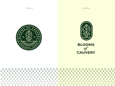 Blooms Of Cauvery Logo Options agriculture farm identity organics tree plant green nature bloom organic branding logo