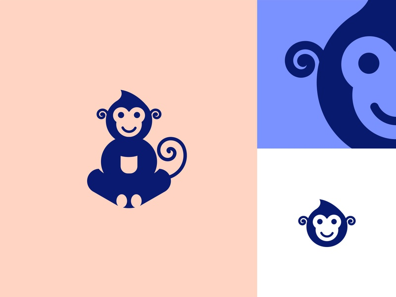 Monkey Logo cute monkey logo animal logo identity animal monkey logo